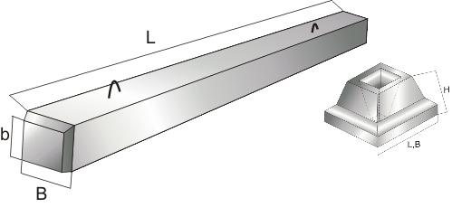 Опора бетонная и подножник опоры